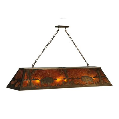 Buffalo at Lake 9-Light Billiard Light