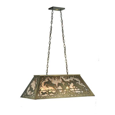 Fox Hunt 6-Light Pendant Size: 22 - 44 H x 33 W x 17 D