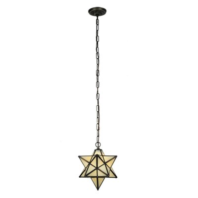 Moravian Star 1-Light Geometric Pendant