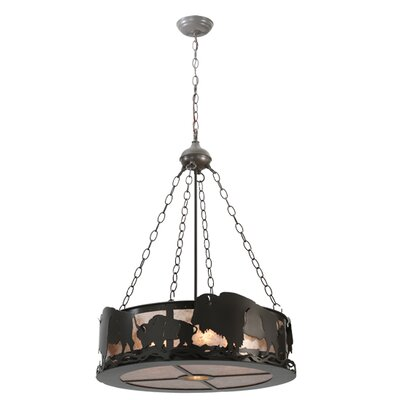 Buffalo 5-Light Drum Inverted Pendant