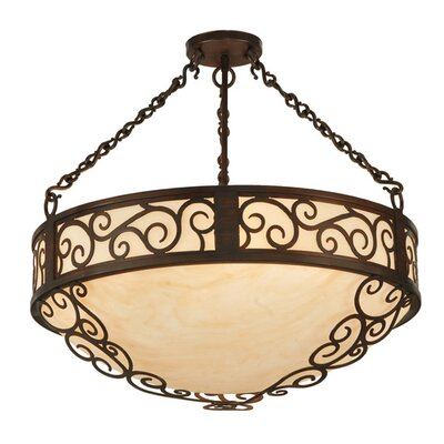 Lilliana 4-Light Inverted Pendant Size: 24 H x 24 W x 24 D