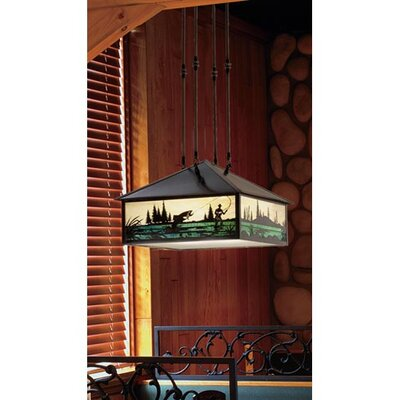 Fly Fishing Creek 3-Light Pendant