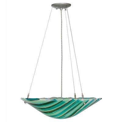 La Spiaggia Fused Glass 2-Light Inverted Pendant