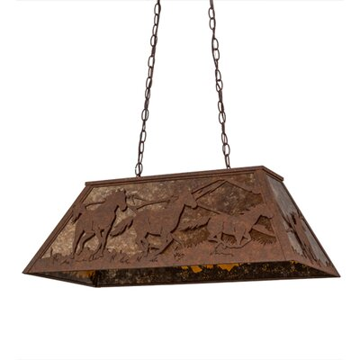 Wild Horses 6-Light Billiard Pendant Finish: Brown
