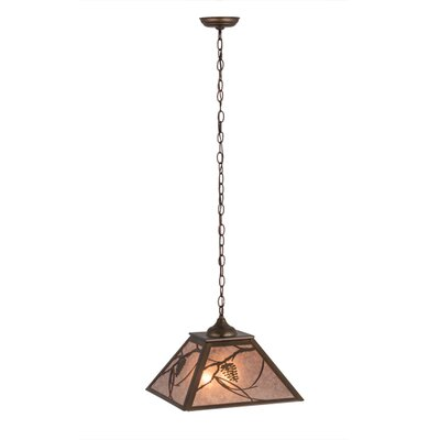 Whispering Pines 2-Light Pendant Finish: Antique Copper, Shade Color: Silver
