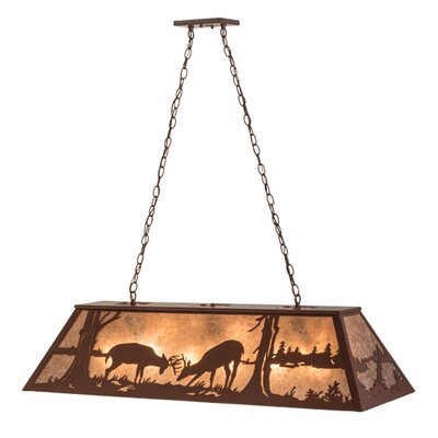Battling Bucks 9-Light Billiard Light
