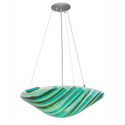 La Spiaggia Fused Glass 2-Light Inverted Pendant