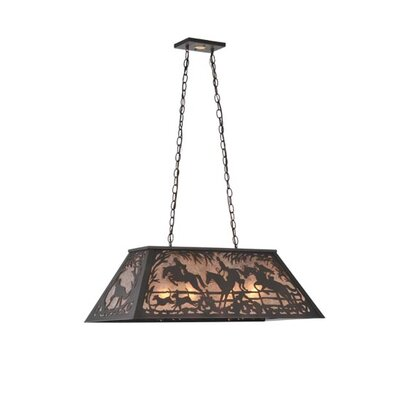 Fox Hunt 6-Light Pendant Size: 18 - 44 H x 33 W x 17 D