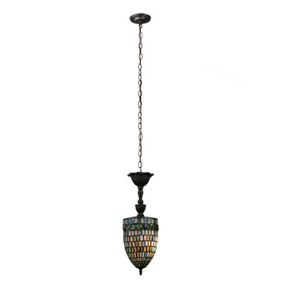 Belted Turtleback 1-Light Mini Pendant