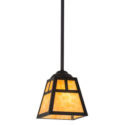 T Mission 1-Light Mini Pendant Size: 30.5 H x 8.75 W x 8.75 D