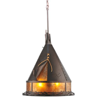 Teepee Athabasca 2-Light Pendant Size: 32 - 62 H x 16 W x 16 D