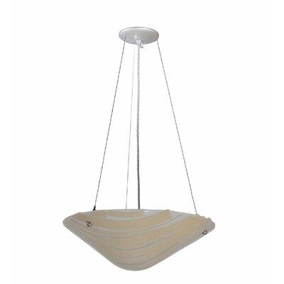 Bambu Fused Glass 2-Light Inverted Pendant