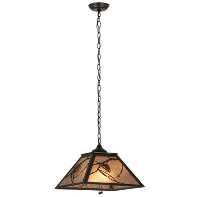 Whispering Pines 2-Light Pendant Shade Color: Silver, Finish: Timeless Bronze