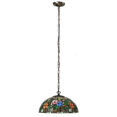 Hanging Pansy 1-Light Bowl Pendant