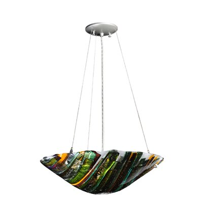 Metro Fusion Penna Di Pavone 3-Light Inverted Pendant