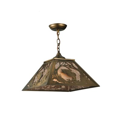 Northwoods Leaping Bass 1-Light Pendant