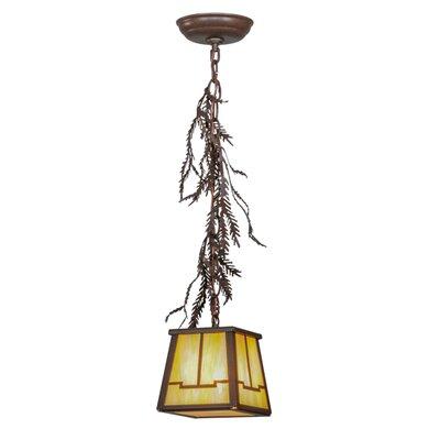 Pine Branch Valley View 1-Light Mini Pendant Size: 16 - 69 H x 8 W x 8 D
