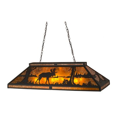 Moose at Lake 9-Light Billiard Light