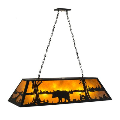 Bear at Lake 9-Light Pendant Size: 22 - 44 H x 48 W x 17 D