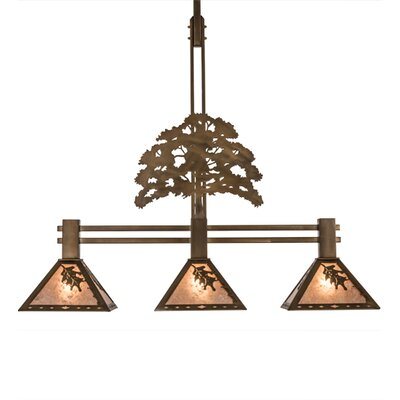 Oak Tree Oak Leaf 3-Light Kitchen Island Pendant