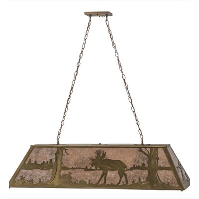 Moose at Lake 9-Light Billiard Pendant