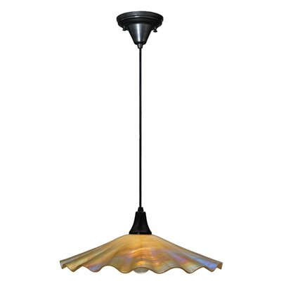 Metro Galatia Scalloped Iridescent 1-Light Mini Pendant