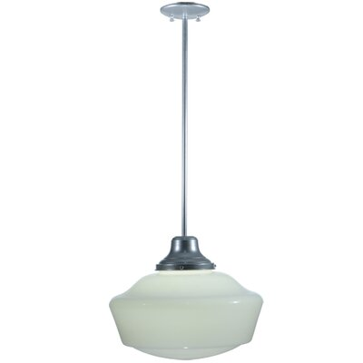 Revival Schoolhouse 1-Light Schoolhouse Pendant Base Finish: Silver
