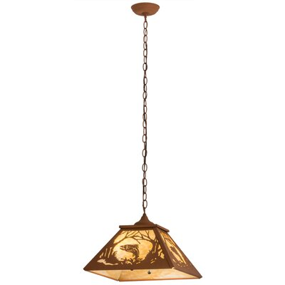 Northwoods Leaping Trout 2-Light Pendant