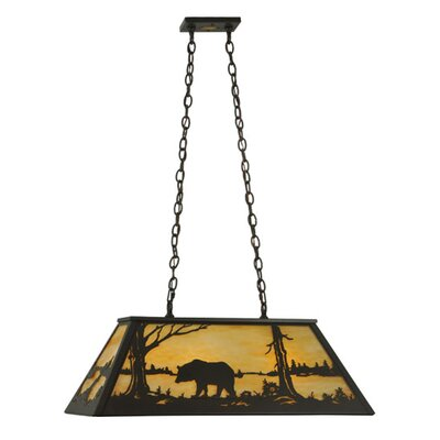 Bear at Lake 6-Light Pendant
