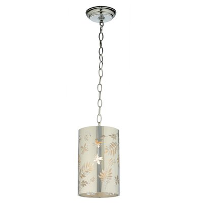 Butterflies and Ferns 1-Light Mini Pendant Size: 16 - 61 H x 6.25 W x 6.25 D
