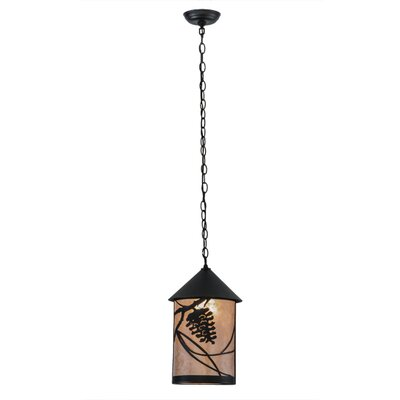 Whispering Pines 1-Light Mini Pendant Finish: Bold Black