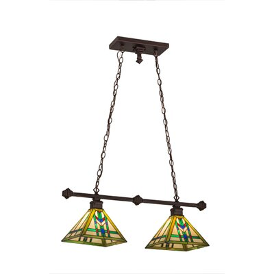 Prairie Wheat 2-Light Kitchen Island Pendant