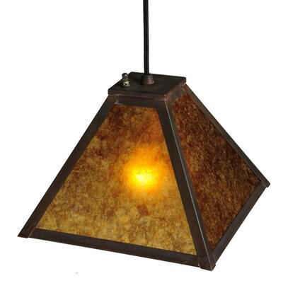 Mission Prime 1-Light Pendant Size: 12 - 115 H x 10 W x 10 D