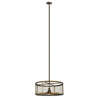 Paloma Golpe 1-Light Drum Pendant