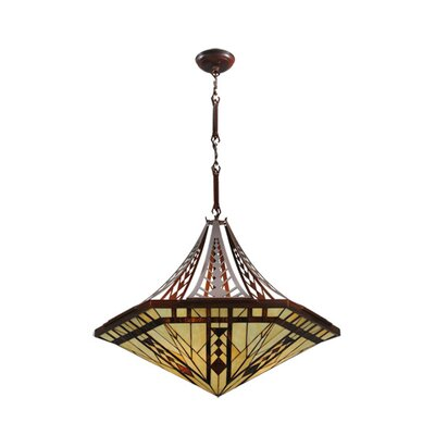 Sonoma 3-Light Inverted Pendant Size: 30 - 52.5 H x 27.25 W x 27.25 D