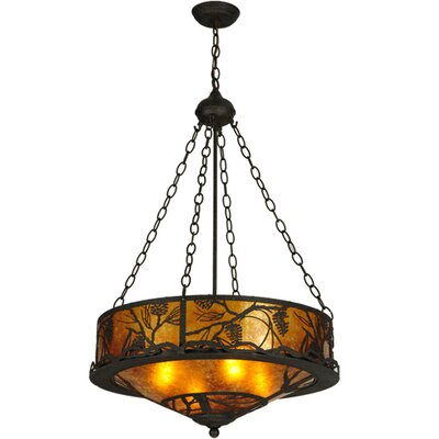 Whispering Pines 4-Light Inverted Pendant