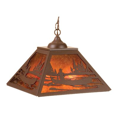 Canoe At Lake 2-Light Pendant