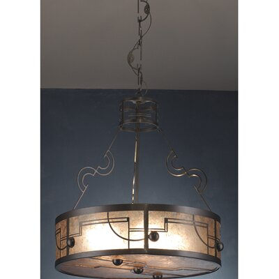 Deco 4-Light Drum Pendant