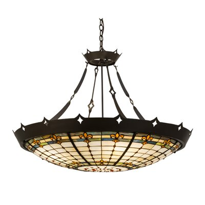 Fleur-de-Lite 6-Light Inverted Pendant