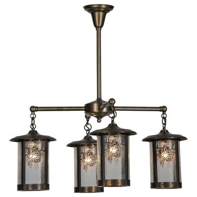 Fulton Winter Pine 4-Light Shaded Chandelier
