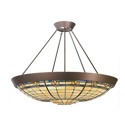 Fleur-de-Lite 10-Light Inverted Pendant