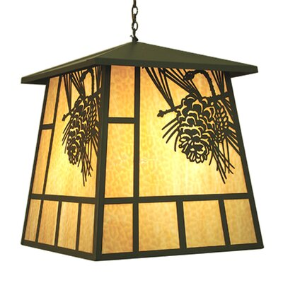 Stillwater Winter Pine 4-Light Lantern Pendant