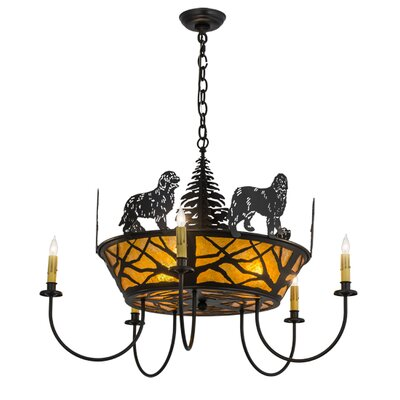 Big Dogs 5-Light Candle-Style Chandelier