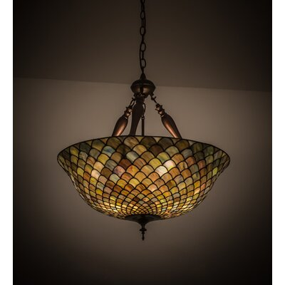 Tiffany Fishscale 3-Light Inverted Pendant