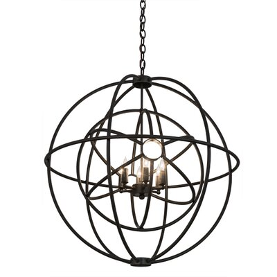 Greenbriar Oak 6-Light Candle Chandelier