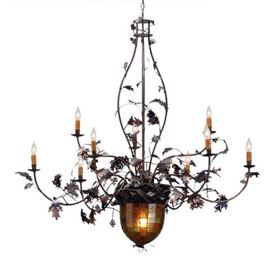 Greenbriar Oak 9-Light Candle-Style Chandelier