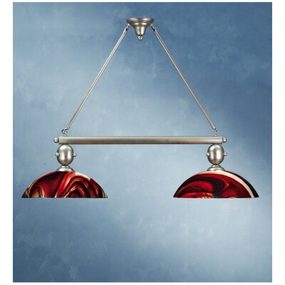 Revival Cabernet Swirl 2-Light Kitchen Island Pendant