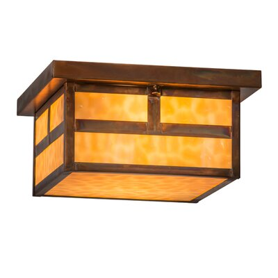 Hyde Park T Mission 2-Light Flush Mount