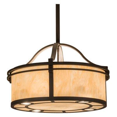 Greenbriar Oak 4-Light Drum Pendant