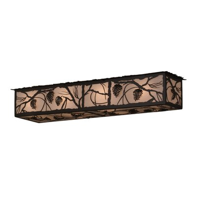 Greenbriar Oak 8-Light Flush Mount